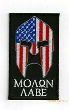 Molon Labe Hat Vest Patch Pin Up Come & Get Them Spartans Us Usa Flag Gun Rifle