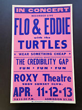 Flo & Eddie With The Turtles - Roxy - Original Vintage Concert Promotion Poster