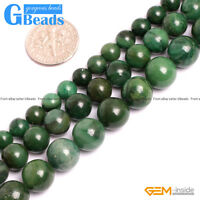 Natural Green African Jade Jadeite Round Beads For Jewelry Making Free Shipping