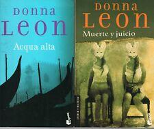 Donna Leon - ACQUA ALTA / MUERTE Y JUICIO - Los 2 títulos Booket