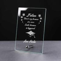Personalised Graduation Keepsake Glass Plaque Gift GP31