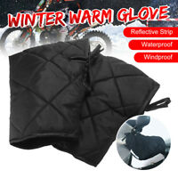 Waterproof Motorcycle Handlebar Gloves Hand Muffs Motorbike Thermal Warm Mitts
