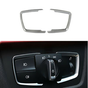 Vehicle Interior Headlight Switch Cover Trim Silver for BMW 3 Series F30 F31 F34