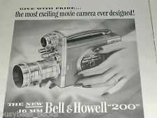 1951 Bell & Howell ad, 16mm movie camera model 200
