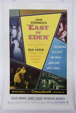 EAST OF EDEN - 1 SHEET LINEN POSTER - JAMES DEAN - JULIE HARRIS - RAYMOND MASSEY