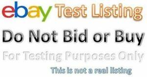 Ebay Test Item Do Not Buy