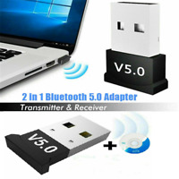 USB bluetooth 5.0 Adapter Wireless Dongle Stereo Receiver Kit for PC Win 10 8 XP