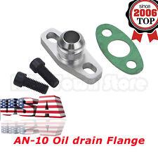 New Turbo Oil Return Drain Flange Adapter AN10 Garrett GT28 GT30 GT35 T25 USA