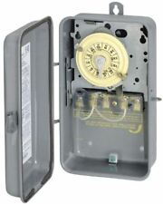 Outdoor Programmable Mechanical Time Switch Rust Resistant 24 Hour Dial Dpst 5Hp