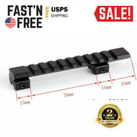 11mm Dovetail to 20mm Picatinny Weaver Rifle Scope Rail Mount Adapter 10 Slots