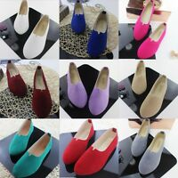 New Women's Slip On Suede Boat Flats Loafers Casual Ballet Shoes Single Sandals