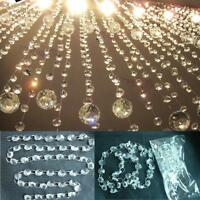 14MM Garland Decor Prisms Clear Glass Chandelier Wedding Lamp Bean Chain