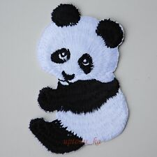 1x Cute Panda Bear Animals Wildlife Embroidered Sew Iron on Patch Rare Shirt Hat