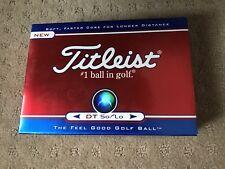 NIB Titleist DT So/Lo Golf Balls Set of 12 Logitech Logo