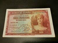 BILLETE DE 10  PESETAS  DE  LA  REPUBLICA  ESPAÑOLA    (  EBC + )  SERIE   A