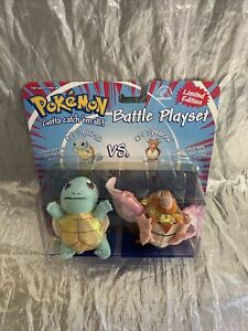 Pokemon Battle Playset Squirtle vs Spearow Plushes NEW Applause