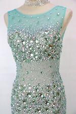 NWT Jovani Size 10 Prom Formal Green $500 Sleeveless Dress Evening Long Mermaid