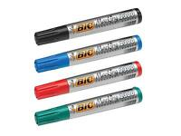 BIC PERMANENT MARKER PEN 2300 (THICK) BLACK/BLUE/RED/GREEN (PK OF 2)