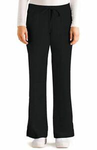 Grey's Anatomy #4232 ElasticDrawcord Waist Scrub Pant in Black Size XL-Petite