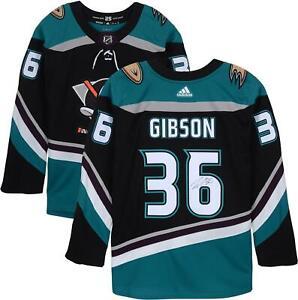 John Gibson Anaheim Ducks Autographed Alternate Adidas Authentic Jersey