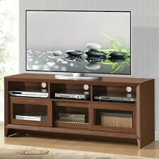 """Techni Mobili 55"""" Modern TV Stand for TVs up to 65"""" with Storage, Hickory (RTA-8"""