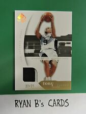 2005-06 SP Authentic TONY PARKER EXTRA LIMITED PATCH /25 RARE GAME USED PATCH!!!