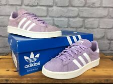 best sneakers 64d32 3a0d3 ADIDAS Donna UK 4 EU 36 2 3 Viola Bianco gesso in pelle scamosciata Campus  Scarp.