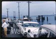 1962  Photo slide ship trip Seattle WA to Victoria Canada #8 car ferry cadillac