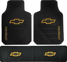 New Licensed Factory Style Heavy Duty Rubber Front Floor Mats & Runner for Chevy
