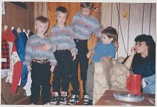 Found PHOTO Little Boys Brothers In Matching Shirts