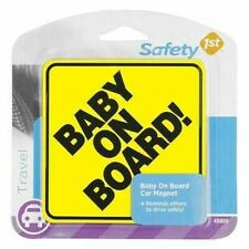 New From Smoke Free Home Safety 1st Baby On Board Sign Magnetic