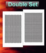 airbrush stencil Carbon Fiber Double Set Template Stencils Spray Vision 2