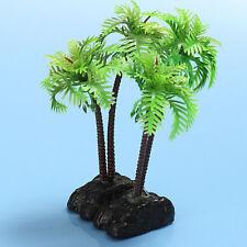 2Pcs Plastic Coconut Tree Aquarium Plants Ornament Decoration for Fish Tank Hot