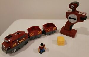 Fisher Price GeoTrax Bull & Bruno The Toughest Team RC Train L4799 Vintage Mint