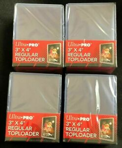 100 Ultra Pro Regular 3 x 4 Toploaders New top loaders New Sealed