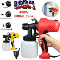 Electric Handheld 800ML Airless Paint Sprayer Tool Painting Spray Gun House 400W