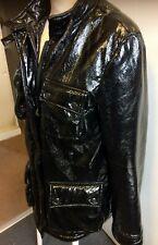 Black Shiny PVC Faux Snakeskin Adidas Jacket size S