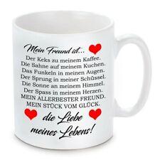 Herzbotschaft® Tasse mit Motiv: Mein Freund ist die Liebe meines Lebens