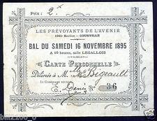 """51. Courville . Bal du 16 novembre 1895 """" les Prévoyants de l'Avenir """""""