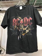 AC/DC Black Ice Concert Tour T Shirt 08/09 Angus Young Medium
