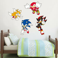Sonic The Hedgehog Wall Sticker - Sonic, Tails, Knuckles and Shadow Vinyl Decals