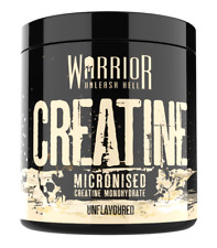 Warrior Creatine Monohydrate Powder 300g 100% Pure Micronized 60 Servings
