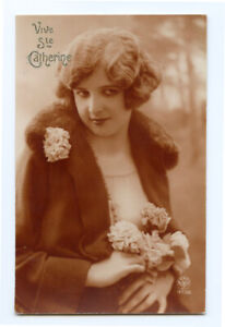 1920s Fashion Glamour BEAUTIFUL LADY Flapper Beauty photo postcard