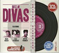 BEST OF DIVAS 3 CD BOX SET - BILLIE HOLIDAY * ELLA FITZGERALD & ARETHA FRANKLIN