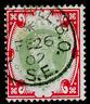 SG214, 1s green & carmine, FINE USED, CDS. Cat £140.