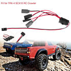 for 1/10 TRX-4 SCX10 RC Crawler Car 4-way Wire LED Light On/off Switch Y Cable