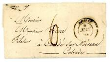 1837 France cover from Amiens to Calvador