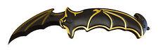 Batman Knife BAT FACE!! Spring Assisted Opening Folding Blade BLACK w/Gold