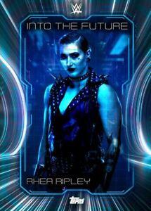 "WWE Topps SLAM ""Digital"" Rhea Ripley Into The Future 21 Blue Super Rare"
