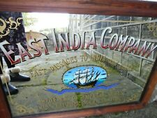 More details for vintage east india company advertising mirror in frame large 79cm x 55cm